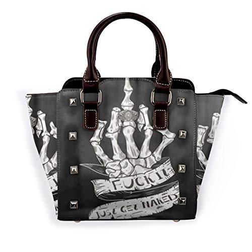 BROWCIN Holen Sie sich Naked Skull Funny Rock Roll Halloween Abnehmbare mode trend damen handtasche umhängetasche umhängetasche