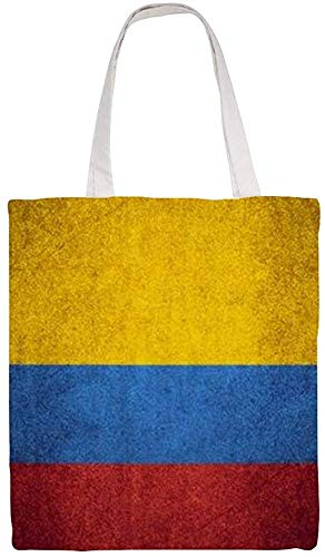 Flag of Colombia Shoulder Bag Canvas Tote Bag, Reusable Grocery Shopping Cloth Bags, Double-sided Printing Tote Handbags
