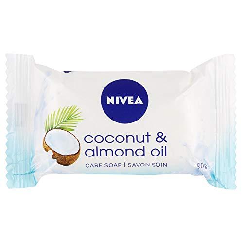 NIVEA Coconut & Almond Oil Pflegeseife im 1er Pack (1 x 90 g), cremige Seife mit zartem, frischen Kokosduft, Handseife als Schutz und für hygienisch saubere Hände