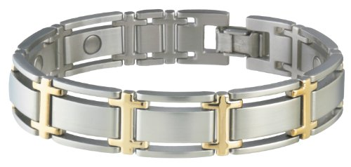 Hot Sale Sabona 34680 Executive Symmetry Duet Magnetic Bracelet, Extra Large