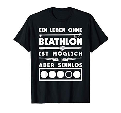 Biathlon lustiger Spruch mit Zielscheibe T-Shirt