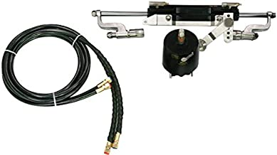 Woqi ZA0350 Outboard Hydraulic Steering System with Helm Pump, Compact Cylinder, Tubing
