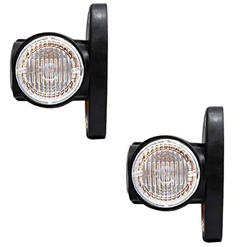 2x LED 12V / 24V PKW LKW Begrenzungsleuchten Positionsleuchten Anhänger 2 Farbig E-prüfzeichen