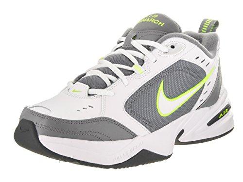 Nike Air Monarch IV, Scarpe da Ginnastica Uomo, Bianco (White/White/Cool Grey/Volt/Anthracite 100), 43 EU