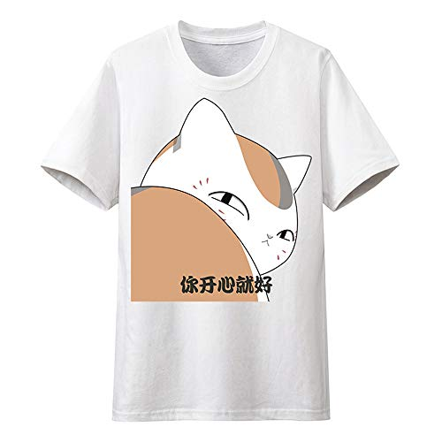 GOYING Camiseta de Manga Corta Anime Unisex Natsume's Book of Friends cómics Cosplay Inicio Chándal Casual Slim