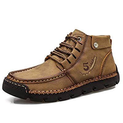 FiveStoresCity Mens Chukka Boots Leather Loafer...