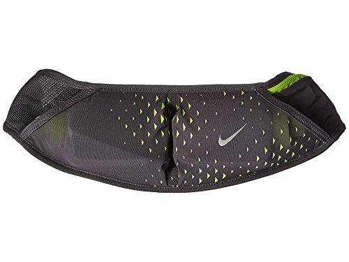 Nike Double Flask Pocket Running Belt (Dark Grey/Volt)