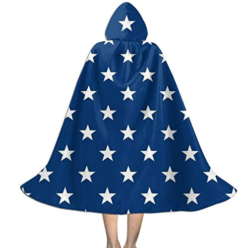 Liang Unisex Hooded Cloak for Halloween Christmas Masquerade Cosplay Costume Cape with Hood for Women Kids M