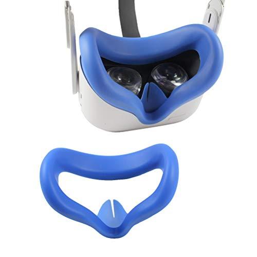 BSTOB Funda de Silicona VR Compatible con Oculus Quest 2, Gafas para Auriculares, antisudor, Impermeable, Almohadilla para la Cara, Acolchado para los Ojos, Cubierta para Accesorios Q2 VR