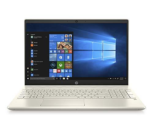 "HP-PC Pavilion 15-cs2025nl Notebook, Intel Core i7-8565U, RAM 16 GB, SSD 256 GB, NVIDIA GeForce MX250 2 GB, Windows 10 Home, Schermo 15.6"" FHD Antiriflesso, Lettore Micro SD, USB-C, HDMI, RJ-45, Oro"