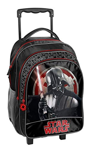Star Wars Darth Vader Rucksacktrolley Schultrolley XL 35L | Rolly Schulrucksack Trolley Rucksack | Rucksack mit Rollen | inkl. Sticker von Maximustrade