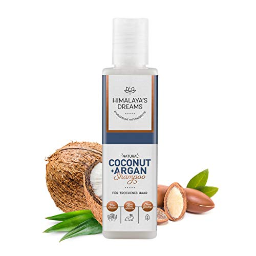 Ayurveda Naturkosmetik Shampoo von Himalaya`s Dreams, Coconut & Argan 200ml Shampoo ohne Silikon Sulfate und Parabene