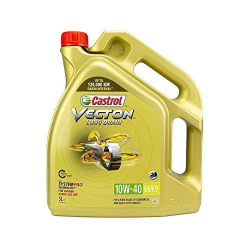 Castrol Aceite de motor para motores diésel Vecton 10W-40 Long Drain E6 E9 5L