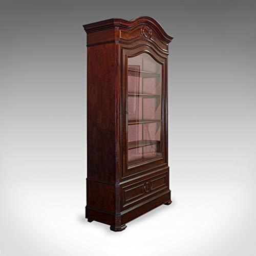 Vitrina Antigua Vitrina, Victoriana, Llama Caoba Vitrina, Circa 1850