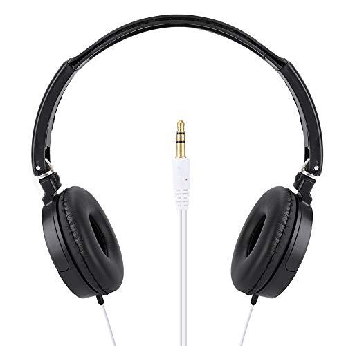 유선 귀 헤드폰에 하이파이 스테레오 헤드폰 음악과 마이크 접 콤팩트 유선 헤드셋 고해상을 가진 오디오 게임 헤드폰 지원 TF 카드를 스마트 폰을위한 노트북 컴퓨터