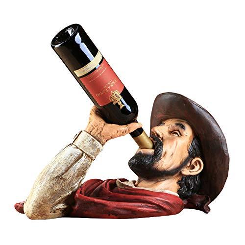 WAJI Decorazione Europea per portabottiglie Accessori per la casa Portabottiglie per Vino Americano Soggiorno Decorazione per armadietto del Vino