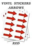 50 flechas rojas, autoadhesivas, impermeables, duraderas, pegatinas de vinilo extraíbles, cortadas digitalmente a la forma de la pegatina, tamaño 40 mm x 20 mm