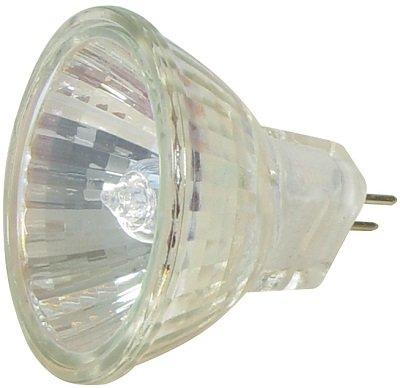 10 Stück Halogen Spiegellampen, 20 W, MR11-G4 (GU4) Sockel, 600 cd, mit Schutzglas, 36° Flutlicht, Lampe