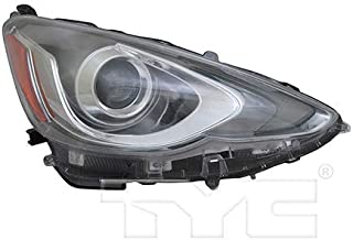 CarLights360: Fits 2015 2016 2017 Toyota Prius C Headlight Assembly Passenger Side (Right) CAPA Certified w/Bulbs - Replacement for TO2503236
