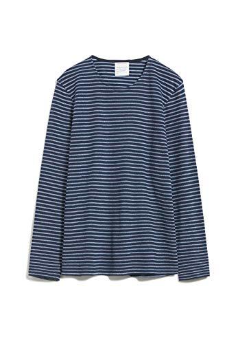 ARMEDANGELS Herren JAARDY Stripes - JAARDY Stripes - L Navy-Heritage Blue Sweat Shirt