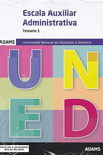 Temario 1 Auxiliares Administrativos Universidad Nacional de Educación a Distancia (UNED) (Temario Auxiliares Administrativos Universidad Nacional de Educación a Distancia (UNED) (OC))