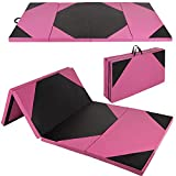 Polar Aurora Thick Folding Gymnastics Gym Exercise Aerobics Mats 4'x10'x2 Stretching Fitness Yoga New Red-Black