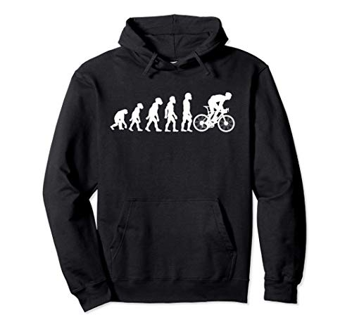 Funny Human Cycling Evolution Athlete Bike Cyclist Biker Pullover Hoodie