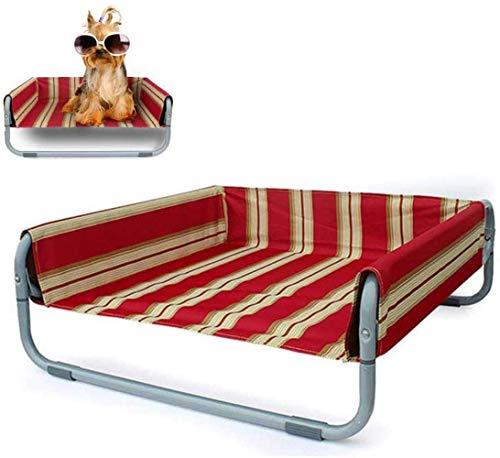 NDYD Hundebett Hochbett Kühlt Removable Haustier-Auflage Faltbare beweglichen Breath Kennel, Four Seasons Universal, 71x71x29cm, 56x56x24cm DSB