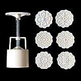 A0127 6pcs Moule pâtisserie Orientale Moule Mooncake Moule décoratif 50g de pâte Outil de Bricolage Timbre...