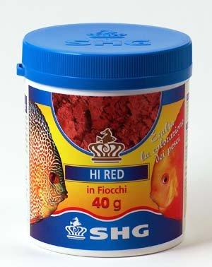 SHG Mangime per Pesci d Acqua Marina e Dolce acquari 40 g in Fiocchi Hi Red