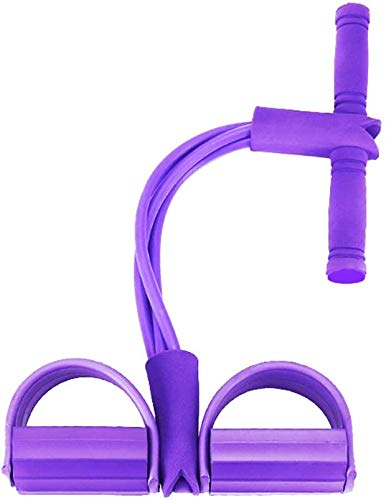 Chaohua Situp Bodybuilding Expander Fitness Beintrainer Bauchtrainer, Upgrade 4 Tubes Pedal Fitness Bauchtrainer Band Elastisches Sit-up Trainingsgerät Multifunktions Leg Exerciser