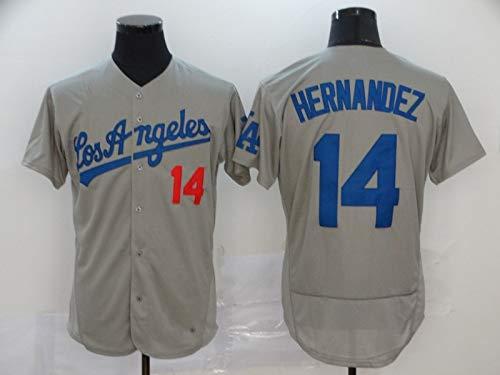 Camiseta De Béisbol,Dodgers # 13 MUNCY # 14 Hernandez Uniforme De Béisbol para Hombres, Camiseta De Béisbol De élite Camiseta De Manga Corta para Hombres Uniforme Jersey