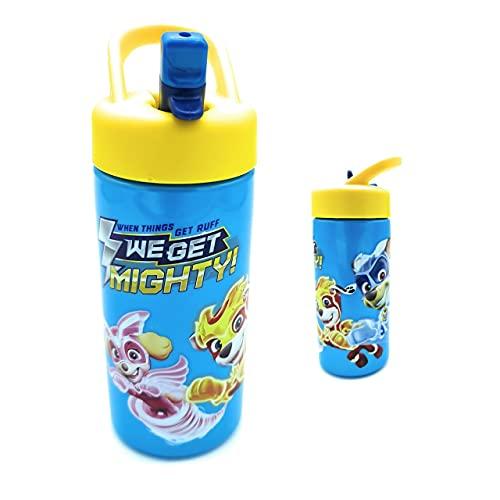 Botella agua niños, Botella Patrulla Canina, botella para niño sin BPA, cómoda y práctica. 410 ml