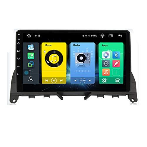 TypeBuilt Autoradio Mit Navi 2 Din Radio 9Zoll Touchscreen Monitor Bluetooth Freisprecheinrichtung Für Mercedes Benz C Class W204 S204 2007-2010 Player Smartphone Ladefunktion Über,C300