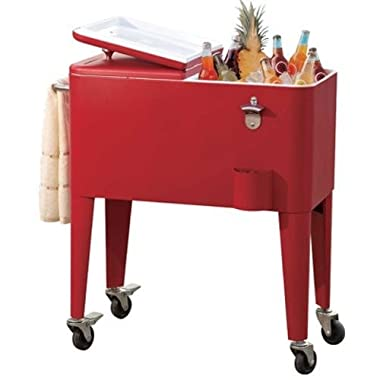sunjoy 60-Quart Red Beverage Cooler
