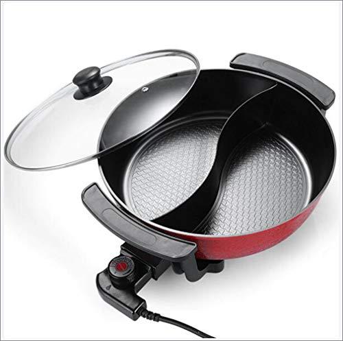 6L Grote Capaciteit Indoor Hot Pot Chafing Dish, Elektrische Barbecue Grill, Huishoudelijke Multifunctionele Non-stick Pan Elektrische Fornuis voor thuis, keuken, feest
