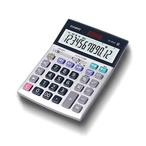カシオ 本格実務電卓 12桁 日数&時間計算 グリーン購入法適合 デスクタイプ DS-20DC-N