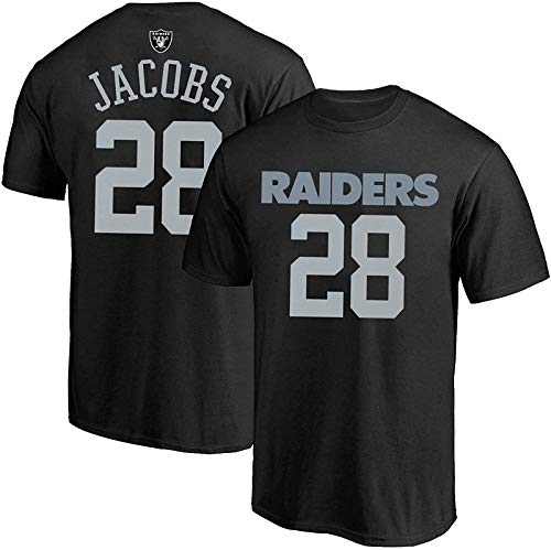 NFL Youth 8-20 Team Color Polyester Performance Mainliner Player Name and Number Jersey T-Shirt (Small 8, Josh Jacobs Las Vegas Raiders Black Home)