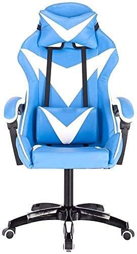 Lesbye Spielstuhl PC Computer Video Stuhl , Ergonomisches Design mit hochlehnendem Gaming Racing-Bürostuhl Ergonomisches Design mit Einstellbarer Höhe