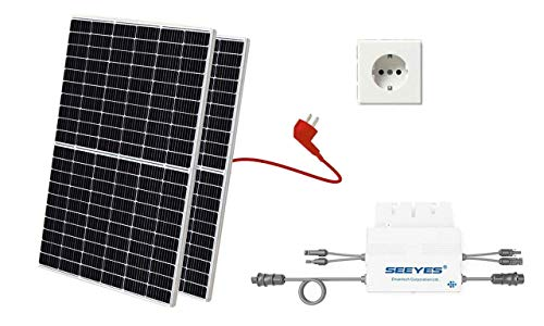 Balkonkraftwerk, Mini-Solaranlage, Plug and Play, 650 inkl. Anschlusskabel und Schukostecker