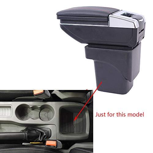 Caja de Almacenamiento Reposabrazos de Piel para Focus MK2 2009-2011 Consola Central con Cenicero & Portavasos Negro