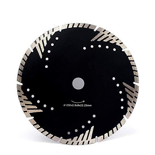 IREANJ De Sierra de Diamante de Corte 230mm Disco Granito Mármol Hoja de Sierra de Diamante Turbo segmentos 9 Pulgadas Store Herramienta de Corte de la Hoja, una Diamante