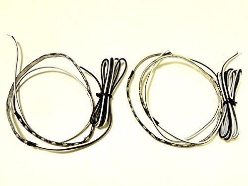 『AMC 側面発光LEDテープ 30cm30連LED オレンジ/アンバー 2本 両側配線で残りも捨てずに使える 両端電源 防水 …』のトップ画像