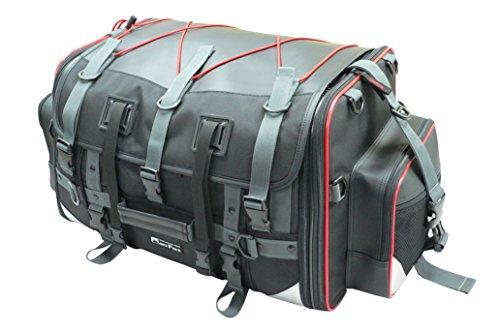 タナックス(TANAX) motofizz モトフィズ)キャンピング シートバッグ2 [59⇔75リットル] ブラック 【赤パイピング仕様】 MFK-102R3