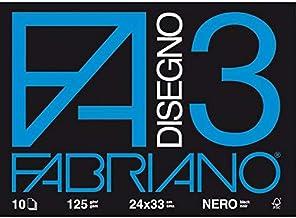 Formato 24 x 33 cm 20 Fogli Fabriano F2 06200516 Album da Disegno Fogli Lisci Grammatura 110gr//m2