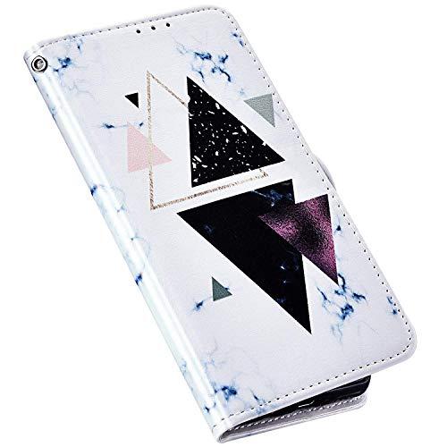 QPOLLY Compatible con Samsung Galaxy J7 2017, funda de piel, plegable, billetera, multicolor, piel sintética, funda para teléfono móvil, cierre magnético, tarjetero, funda tipo libro, mármol #5