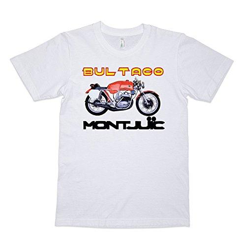 Vox Throttle Bultaco Montjuic Road Racer T Shirt White
