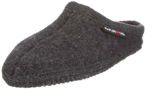 Haflinger Walktoffel Alaska Pantoffeln, Unisex-Erwachsene, Grau 44 EU