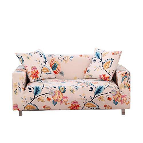Funda de sofá funda elástica universal para sofá todo incluido para comedor elástico con 2 fundas de almohada gratis. Dream borracho floral-4 asientos 235-300 cm