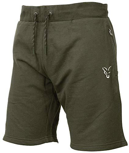 Fox Collection Green Silver LW Shorts - kurze Hose für Angler, Sporthose für Karpfenangler, Angelshorts, Anglerhose, Angelhose, Größe:M
